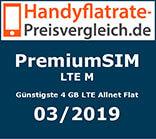 LTE M - Günstigste 4 GB LTE Allnet Flat
